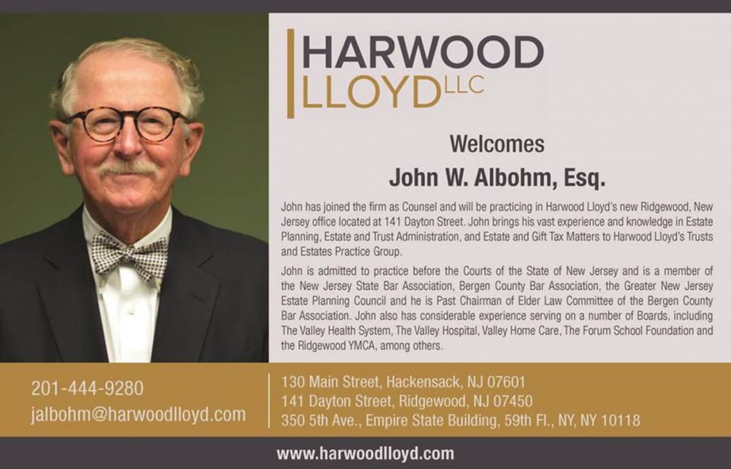 Harwood Lloyd, LLC Welcomes John W. Albohm, Esq.