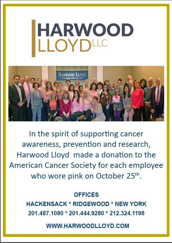 Harwood Lloyd makes a donation to the American Cancer Society.